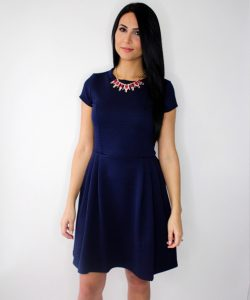Navy Blue Casual Sundress