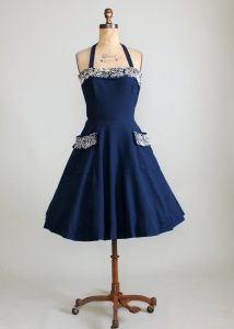 Navy Blue Sundress Pictures