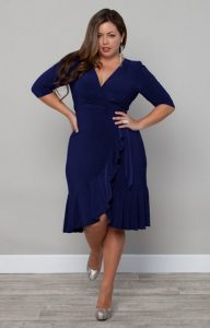Navy Blue Sundress Plus Size