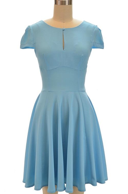 Blue Sundress Dressed Up Girl