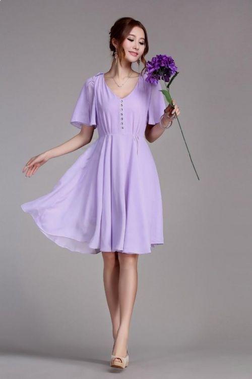 Lavender Sundress Dressed Up Girl
