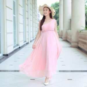 Pink Sundress Wedding