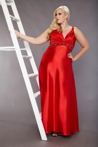 Plus Size Red Sundress