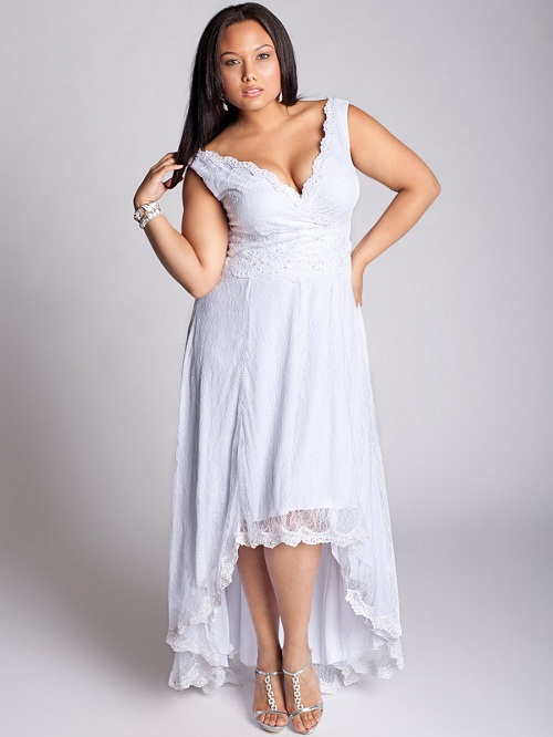 plus size white sundress dressed up girl