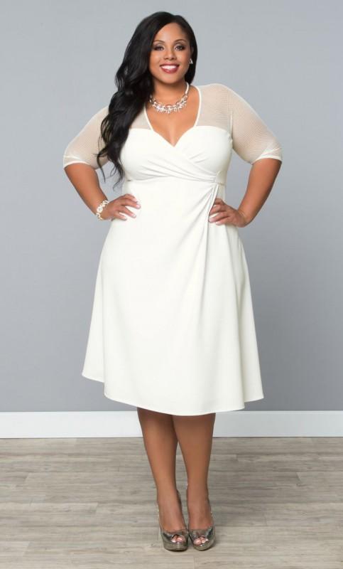 Plus Size White Sundress | Dressed Up Girl