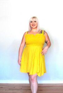 Plus Size Yellow Sundress