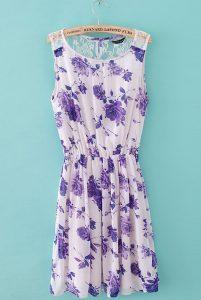 Purple Floral Sundress