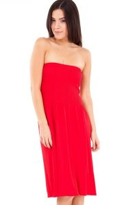 Red Strapless Sundress