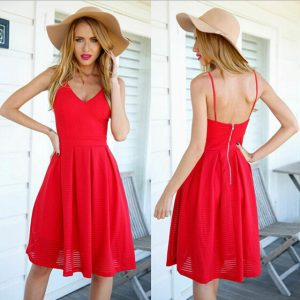 Red Sundress for Women
