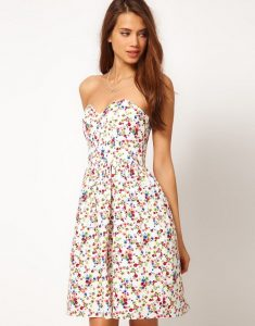 Strapless Floral Sundress