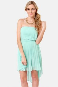 Strapless Light Blue Sundress