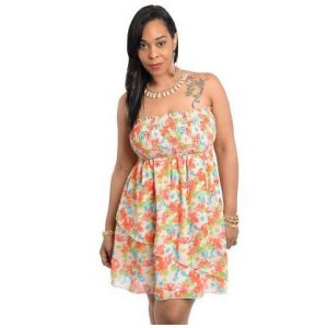 Strapless Sundress Plus Size