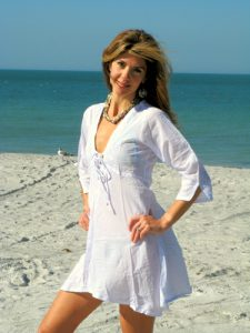 White Beach Sundress
