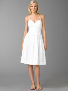 White Sundress Wedding