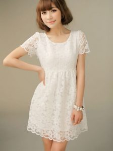 White Sundress with Sleeves