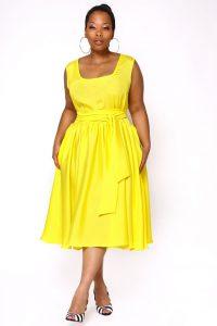 Yellow Sundress Plus Size