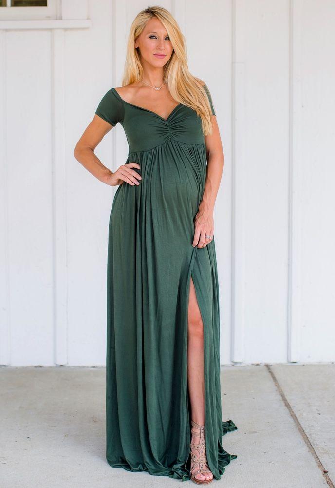 Green Maternity Dress Dressedupgirl Com
